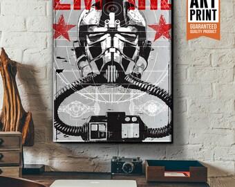 Star Wars Canvas - Stormtrooper - Star Wars Patent Art, large Canvas Art Print, fan art, Star Wars gift, Star Wars canvas art, Pop Art