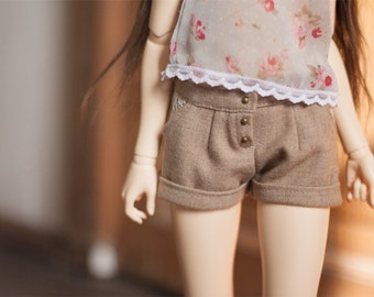 dark beige pleated front shorts Feeple 60 Delf BJD