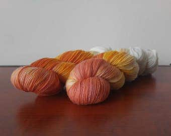 Hand Dyed Fingering Weight Superwash Merino Nylon Sock Yarn-Spilled Sorbet 462 yards