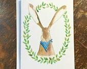 PRINTED CARD Woodland Rabbit
