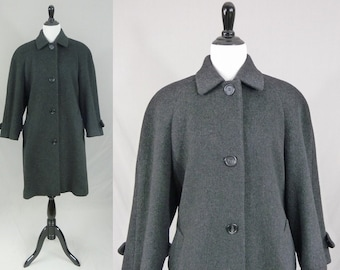 80s Gray Wool Coat - Perry Ellis - Great Classic Style - Jacobson's - Vintage 1980s - S
