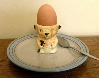 Sooty Bear Vintage Egg Cup - Sooty and Sweep -5 Sooty Eggcup