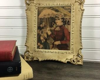 Vintage Jeff Huldah Framed Print- Windsor Mode-Paris Girl-Huldah Strolling Print