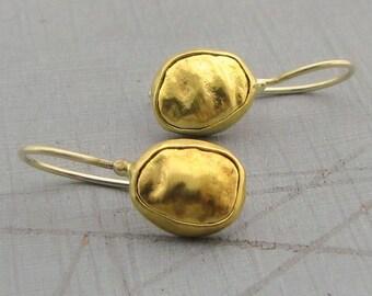 22k Gold Earrings - Solid Gold Earrings - Wedding Gold Earrings