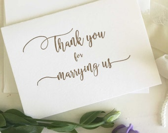 Officiant Gift - Thank You For Marrying Us - Wedding Officiant Card - Thank You For Marrying Us Card - Celebrants Gift - Celebrants Card