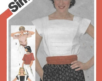 Simplicity 5899 Women's 80 Loose-Fitting Pullover Tops in Two Lengths Sewing Pattern Size 10 to 14, Bust 32 to 36