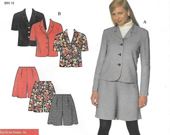 Simplicity 7802 Women's 90s Petite Jacket and Shorts Sewing Pattern Size 12 to 22 Bust 34 to 44