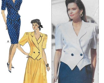 Butterick 4770 David Warren Womens 90s Top and Skirt Suit Sewing Pattern Bust 30 to 32