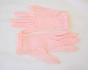 1950s Fownes Pink Net Gloves
