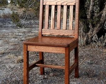 Wood Children's Chair 14 inch Dark Oak Mission Style - Quality Children's Furniture Made to Order