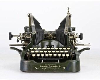 Oliver Typewriter No. 9, Vintage Oliver Typewriter, Vintage Typewriter, Old Typewriter, Antique Oliver Typewriter, Antique Typewriter