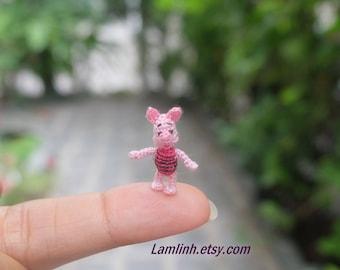 dollhouse miniature dolls - crochet amigurumi pig
