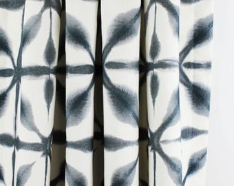 Schumacher Andromeda Drapes (comes in Indigo and Charcoal)