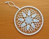 5 inch Dream Catcher Medallion with Crochet Doily, Boho Doily Dream Catcher Top, 5 inch DIY Dream Catcher Ring Hoop, Boho Wedding Decor
