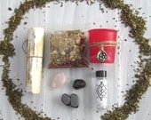Spell kit witchcraft supply wicca supplies occult pagan wiccan altar tools spells magick witchy crystal set wiccan starter kit