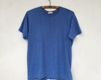 RESERVED For Jonathon .....Vintage Heather Blue Thin T Shirt 50/50 M/L