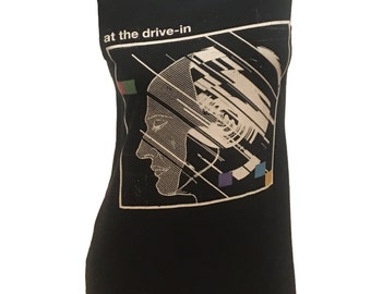 AT The DRIVE IN restyled rock T-Shirt / Dress sz. M