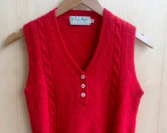Vintage LL bean 100% wool vest