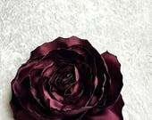 Satin Rose Dog Collar Flower - Dog Corsage - Pet Accessory - Dog Wedding - Dog Accessories - Cat Acessories - Dog Flower Girl - Dog Flower