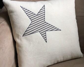 Nautical  Star Pillow // Nautical Decor // Beach Decor