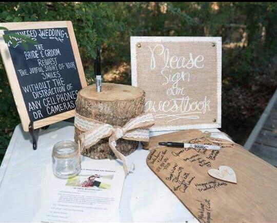 Mason Jar Wedding Guest Book Autograph Sign Alternative DownInTheBoondocks