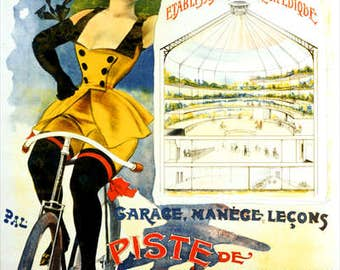 Palais-Sport Bicycle Poster (#1170) 6 sizes