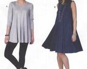 Melissa Watson Womens Swing Dress or Swing Tunic Stretch Knits Only McCalls Sewing Pattern M7407 Size 14 16 18 20 22 Bust 36 38 40 42 44 FF