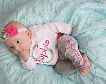 Kids baby etsy baby girl gift personalized baby clothes baby girl clothes personlized baby girl leggings newborn girl coming negle Images