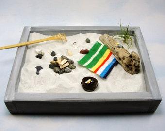 miniature zen beach garden kit beach blanket football air plant fire pit seagull bucket beverages