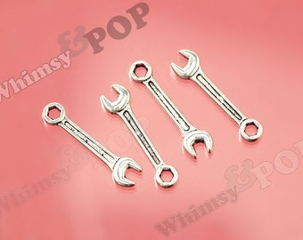 10 - Tibetan Silver Tool Wrench Charms, Wrench Finding, Wrench Charm, 24mm x 6mm (6-1A)