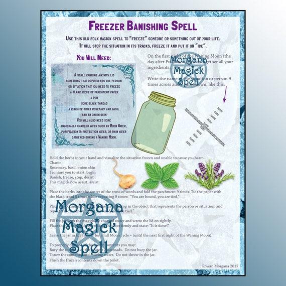 Freezer Banishing Spell