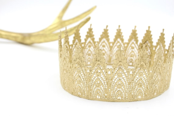 Harlow UNISEX full size lace crown || toddler-adult sizes || photography prop