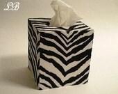ZEBRA PRINT Tissue Box Cover - Decorative w/ Zebra Print Eco Felt