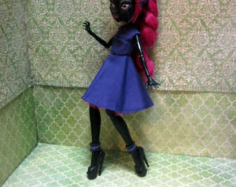 Monster High Doll Clothes - 50s Rockabilly Dress with headscarf! 2016-23-50s