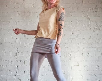 Surya Leela Hemp Skirted Capri Leggings