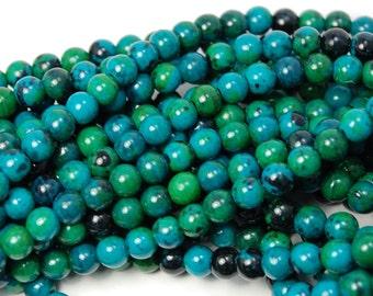 6mm Chrysocolla Round Beads  -15.5 strand