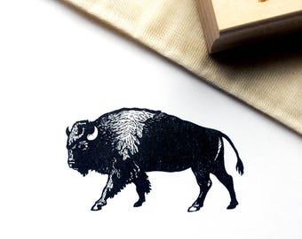 "Buffalo Rubber Stamp, Large, 2.5"" x 1.5"""