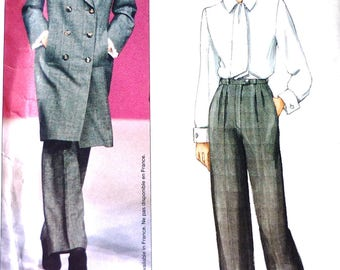 Vogue 2477 jacket and pants sewing pattern, Yves Saint Laurent, Vogue Paris Original, separates, sizes 8-10-12, rare and collectable UNCUT