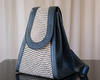 structured triangle backpack