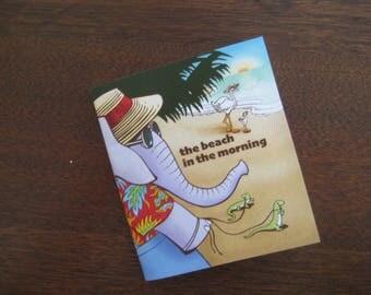 the beach at morning    hand made  original 'zine  (a small hand crafted original book)