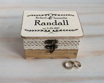 Personalized Wedding Box Ring Bearer Box Wedding Ring Box Customizable Ring Box Pillow Alternative Ring Holder Еngagement Ring Box