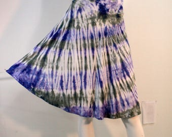 Large tie dye1/2 circle skirt in bamboo blend fabric.