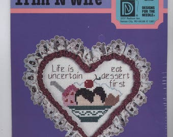 EAT DESSERT FIRST Counted Cross-Stitch Kit