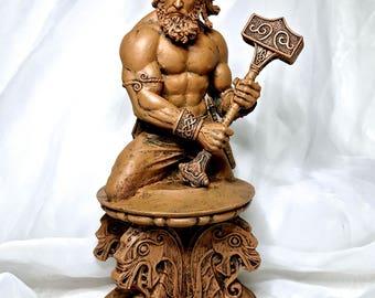Thor Bust, Wood Finish