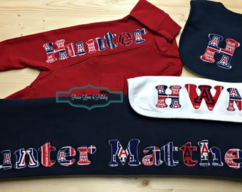 University of Arizona Baby,Personalized Baby Gift Set,Baby Sleeper,Monogrammed Baby Gift,Baby Shower Gift,Personalized Baby Blanket,Wildcats