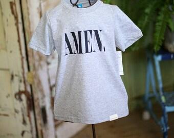 Amen Grey Heather T-shirt- Kids
