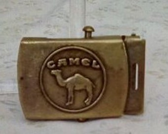 Vintage Brass Camel Belt Buckle