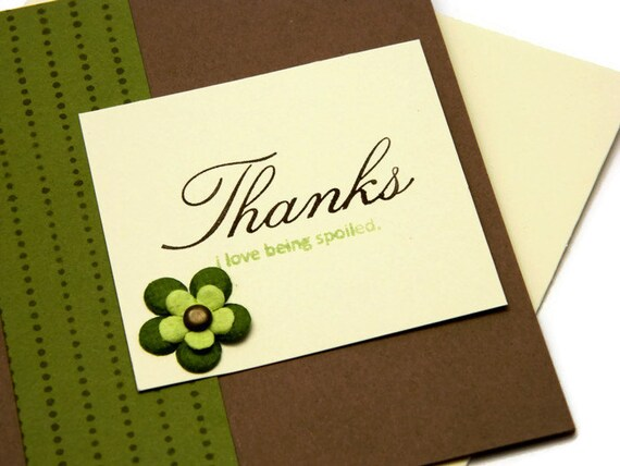 Thankyou Note Cards - Thank You Card Set - Simple Thank You - With Thanks - Handmade Thank Yous - Greetings Cards - Stampin Up Cards