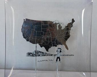 Vintage Santa Fe Railroad Souvenir Plate