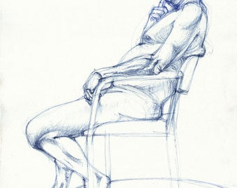 Blue Life Drawing